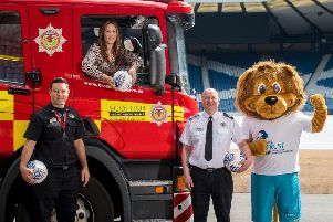 Stranraer coach and Scottish Fire and Rescue Service crew manager Frank McKeown helped launch a new project with the SPFL Trust