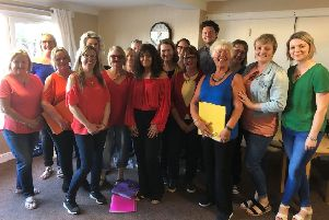The Songburds performing at Dysart Care Home in May 2019.