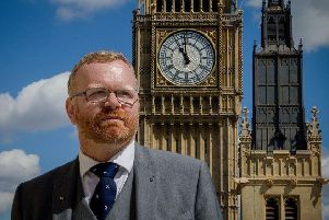 Linlithgow and East Falkirk MP Martyn Day outside the Palace of Westminster