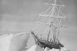 The Endurance frozen in ice on Shackleton expedition. (Picture: National Library /RGS-IBG)