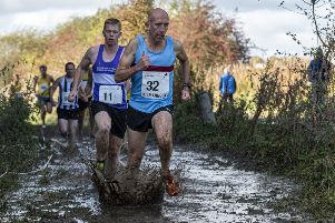 Cumbernauld's Ross McEachern in action at the XC District Relays in Kilmarnock (pic: Bobby Gavin)