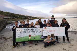 The picture shows young people on Jura, who will now have a wider range of activities to take part in thanks to CalMac's Community Fund.