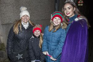 Headteacher Susan Oliver, Lucy Oliver, Robyn Wright and head girl Blythe Duff.
