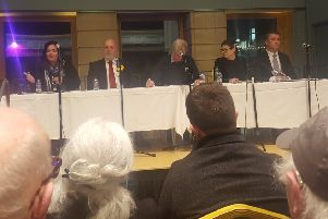 The candidates made their case to the public at Stornoway Town Hall on Tuesday evening.