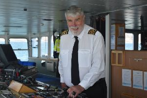Captain Morrison berths the MV Isle of Lewis for the last time.