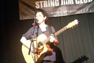 Jenny Biddle at the String Jam Club in the County Hotel, Selkirk
