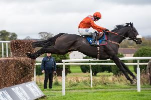 As De Mee in action at Kelso (picture by Alan Raeburn).