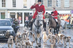Buccleuch Hunt master Timothy Allen in Kelso.