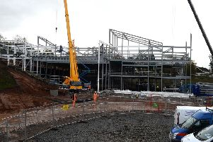 Jedburgh's new inter-generational campus under construction in Hartrigge Park. November 2018.