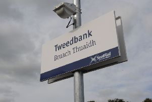 Tweedbank train station, the end of the line for the Borders Railway.