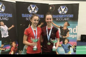 Sarah Sidebottom (right) and her partner Lauren Middleton reached the final in Dunfermline
