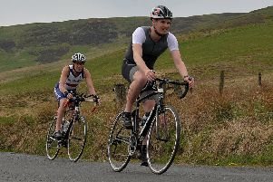 Cycling is one of the familiar elements of the triathletes' routine (picture by Alwyn Johnston).