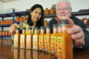 Ooft sauce made in Huntleywood by Tony & Gabrielle Johnson.