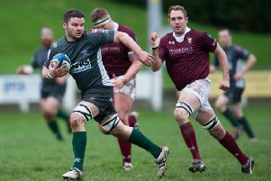 Stuart Graham (left) scored a try against hosts Stirling County for Hawick (archive image).