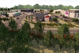 How the proposed Borders Gateway complex in Tweedbank would look.