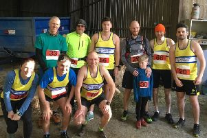 Lauderdale Limpers runners at the Lilliesleaf 10K.