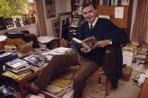The late Bill McLaren in his study or, as it was known, his 'glory hole'.