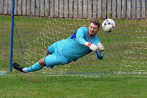 Goalkeeper Craig Saunders - work commitments have ended his through-the-week training until the end of the season (archive image).