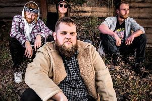 Mother Bru are vocalist Gregor McGill (front) with drummer Jamie Spoul-Cran, bassist Ellis Hall and guitarist Joe Hardie. They are set to play their first hometown gig on Friday, March 1, supporting Indigo Velvet at MacArts.