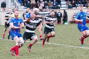 Action from Kelso v Kirkcaldy in the National Cup. Pic: Gavin Horsburgh