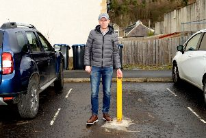 Jason Kane of Ballantyne Place, Peebles is in a dispute with the council over ownership of a parking bay.