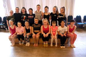 Rhiannon Moore with Elite Studio Centre dancers in Kelso.