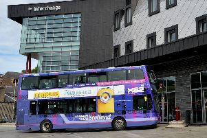 The man has been accused of stealing a bus from the interchange building in Galashiels