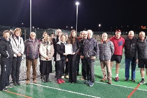 Melrose Waverely Tennis Club gains Live Borders accreditation from club development officer Lori Lee.
