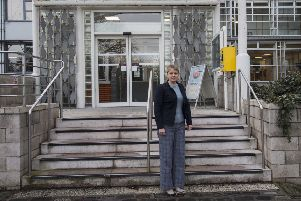 Council leader Shona Haslam at Scottish Borders Council's Newtown headquarters.