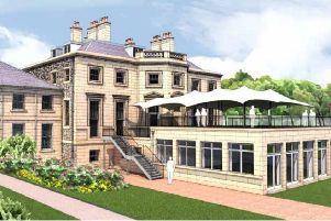 How a new canopy planned at Ednam House Hotel in Kelso would look.