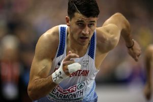 Guy Learmonth of Great Britain competes during the Mens 800m  during the European Athletics Indoor Championships at the Emirates Arena (Photo by Ian MacNicol/Getty Images)