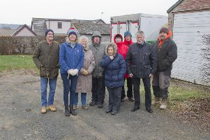 Residents unhappy about plans to demolish garages at Heriotfield, Oxton, to make way for new housing.