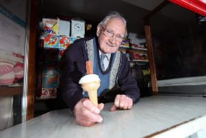 Want a flake with that? Adam Kelly is about to be immortalised in a Melrose Gait Street.