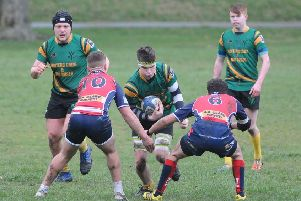 Selkirk Youth Club, in green, scored a victory over Morpeth Colts (picture by Grant Kinghorn)