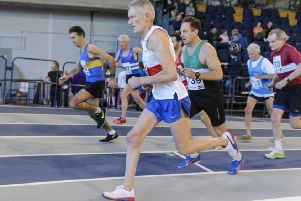 Scottish Athletics National Indoor Combined Events Masters Championships picture: Bobby Gavin