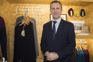 Infrastructure Secretary Michael Matheson at the Findra clothing design hub in Innnerleithen, where he announced the Scottish Government would invest �85m into the Borderlands Growth Deal.