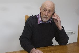 Frederick Carter, a near-victim of phone scammers, at his home in Ednam.