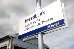 Tweedbank train station, the end of the line for the Borders Railway line