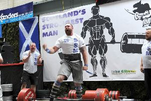 Scotland's Strongest Man event - Cumbernaulds  in 2015.