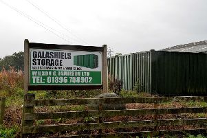 Wilson G Jamieson Fencing and Forestry's Farknowes Yard site in Langshaw Road, Galashiels.