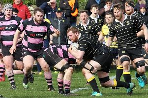 Melrose in possession and on the breakout against Ayr (picture by Dougals Hardie).