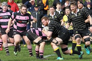 Can Melrose turn the tables on Ayr this weekend at The Greenyards (picture by Douglas Hardie)
