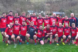 The promotion-clinching Langholm squad