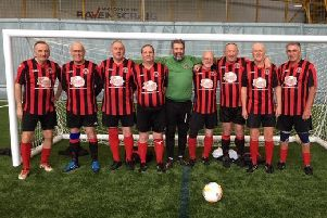Gala Fairydean Rovers walking football squad.