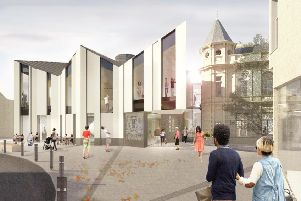 How the new Great Tapestry of Scotland visitor centre in Galashiels will look.