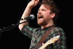 Scott Hutchison of Frightened Rabbit performing in Australia in 2010.  Photo by Mark Metcalfe/Getty Images