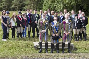 The 2018 principals from across the Borders gather for the traditional group photo at Lauder Common Riding.
