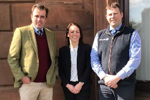 Pictured left to right are Tom Oates, Director of YoungsRPS, Susan Peacock, Administration Assistant for YoungsRPS and Michael Halliday, Farm Business Consultant for YoungsRPS.