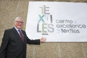 Fergus Ewing Rural Economy Secretary at Hawick's Textile Centre of Excellence