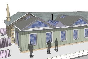 How Stow railway station's station house will look after a planned revamp.